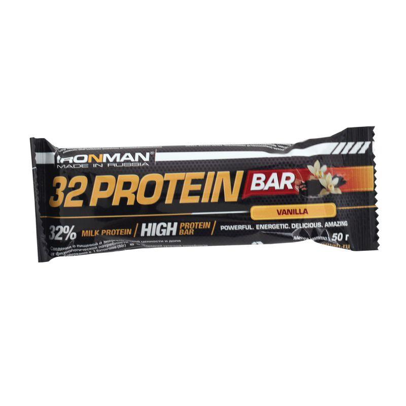 """АЙРОНМЭН батончик """"32 Протеин """" - IRONMAN 32 Protein Bar"""