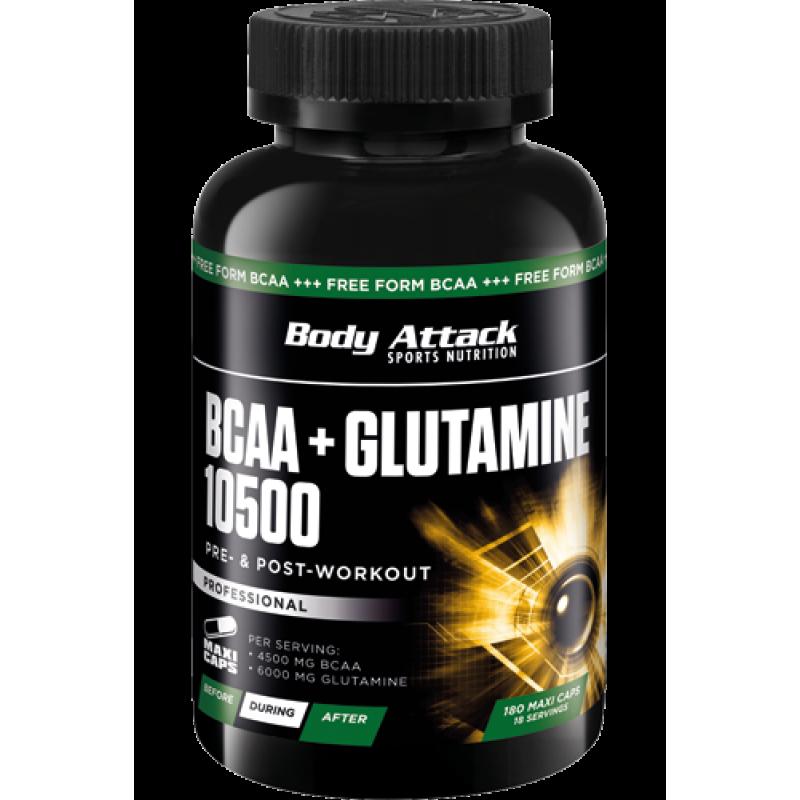 Боди Аттак БЦАА  + Глютамин 10500 капсулс - Body Attack BCAA + Glutamine 10500 capsules