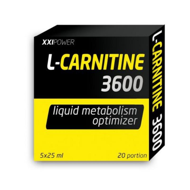 XXI Пауэр (XXI Power) L-Карнитин 3600, 5 флаконов*25мл