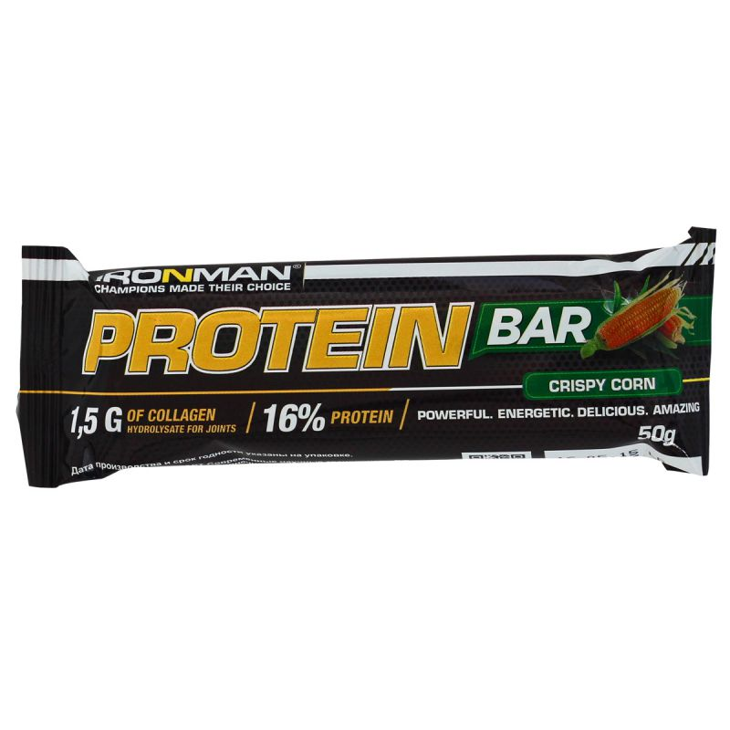 "АЙРОНМЭН батончик ""Протеин"" с коллагеном, 50 г - IRONMAN Protein Bar с коллагеном, 50 г"